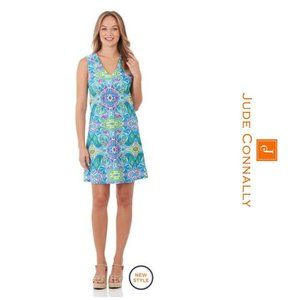 NEW Jude Connally Juliet Shift Dress Mod Mosaic DJ